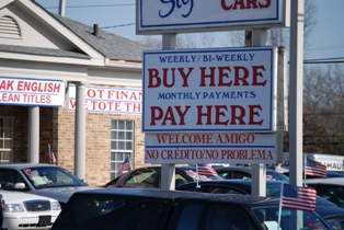 A typical buy here, pay here car lot