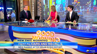 Brian Ross reporting for Good Morning America
